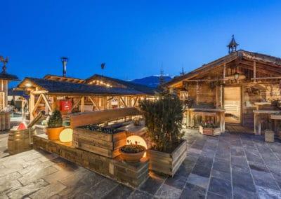 gemütliche Sauna im Cron 4 in Süd Tirol